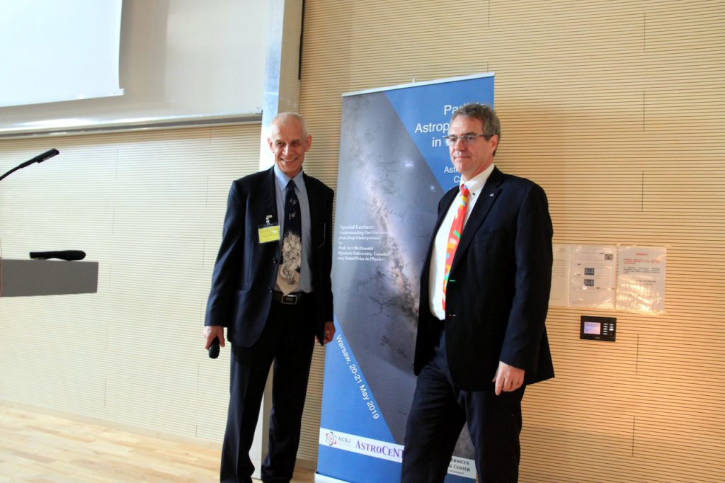 Prof. L. Roszkowski (left) and Dr N. Smith